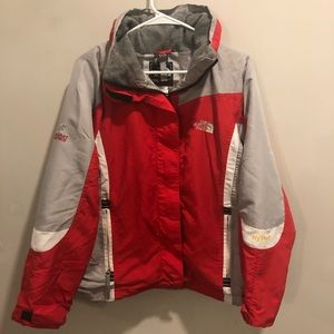 The north face summit series Hyvent jacket red